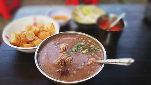 Món cháo ấu tẩu này ban đầu là món ăn giải cảm của người Mông.