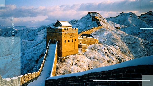 Mùa đông tại Trung Quốc tuyết phủ trắng cả không gian