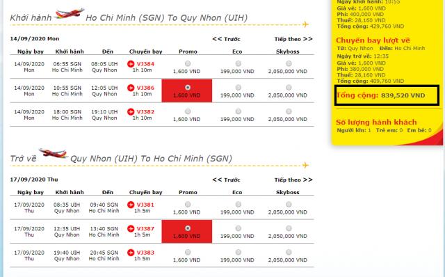 Theo kinh nghiệm du lịch Quy Nhơn tự túc - vé hạng promo mở bán trước 45 ngày