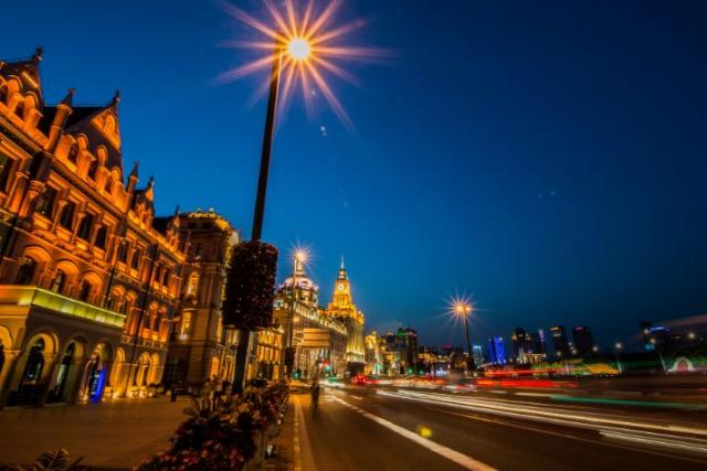 View nhìn của Bến Thượng Hải Về đêm