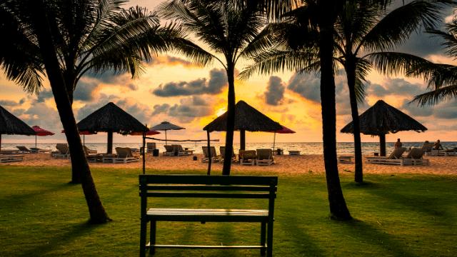 Một góc cảnh nghỉ dưỡng của resort Phú Quốc
